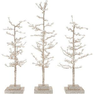 S/3 Sparkling Diamond Ice Trees